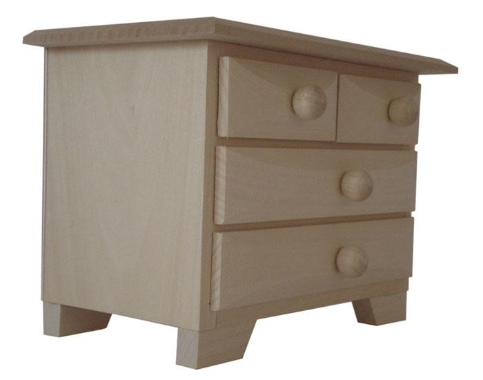 Pine wood drawer mini chest of drawers