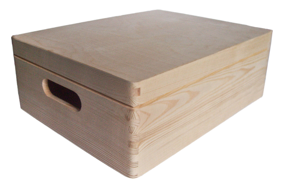 40 Off Pine Wood Storage Trunk With Hinged Lid 40x30x15cm