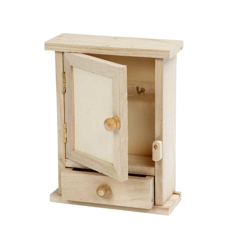 small wooden cabinet mini key cabinet 26422