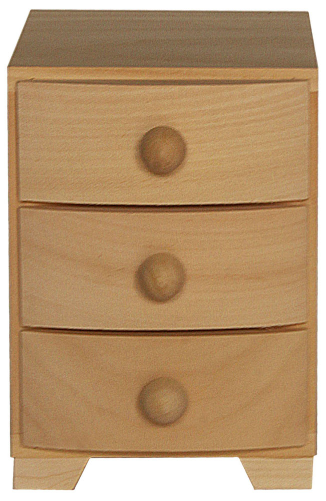 Pine Wood 3 Drawer Chest Of Drawers