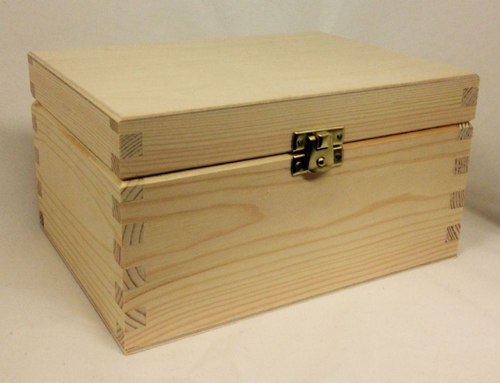Pine Wood Storage Box Large